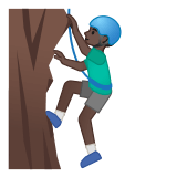 🧗🏿‍♂️ Man Climbing: Dark Skin Tone, Emoji by Google