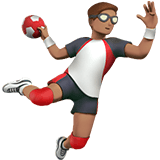 🤾🏽‍♂️ Man Playing Handball: Medium Skin Tone, Emoji by Apple