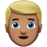 👱🏽‍♂️ Man: Medium Skin Tone, Blond Hair, Emoji by Apple