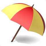 ⛱️ Umbrella on Ground, Apple  Emoji