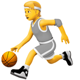 ⛹️ Person Bouncing Ball, Emoji by Apple
