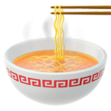 🍜 Steaming Bowl, Emoji by Apple