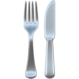 🍴 Fork and Knife, Emoji by Apple