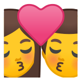 👩‍❤️‍💋‍👨 Kiss: Woman, Man, Emoji by Google