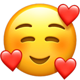 smiling face with 3 hearts emoji emojiguide