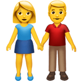 👫 Woman and Man Holding Hands, Emoji by Apple