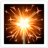 🎇 Sparkler, Emoji by Apple