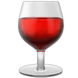 🍷 Wine Glass, Apple  Emoji