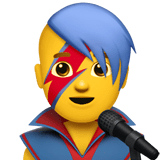 👨‍🎤 Man Singer, Emoji by Apple