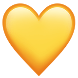 💛 Yellow Heart, Apple  Emoji