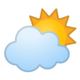 ⛅ Sun Behind Cloud, Google  Emoji