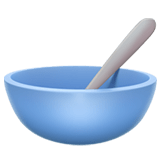 🥣 Bowl with Spoon, Apple  Emoji