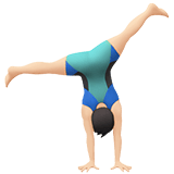 🤸🏻‍♂️ Man Cartwheeling: Light Skin Tone, Emoji by Apple