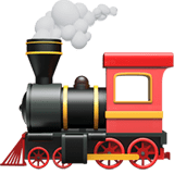 🚂 Locomotive, Apple  Emoji
