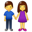 👫 Woman and Man Holding Hands, Emoji by Samsung