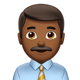 👨🏾‍💼 Man Office Worker: Medium-Dark Skin Tone, Emoji by Apple