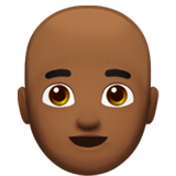 👨🏾‍🦲 Man: Medium-Dark Skin Tone, Bald, Emoji by Apple