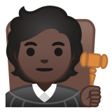 🧑🏿‍⚖️ Judge: Dark Skin Tone, Emoji by Google