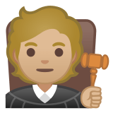 🧑🏼‍⚖️ Judge: Medium-Light Skin Tone, Emoji by Google