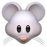 🐭 Mouse Face, Apple  Emoji