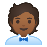 🧑🏾‍💼 Office Worker: Medium-Dark Skin Tone, Emoji by Google