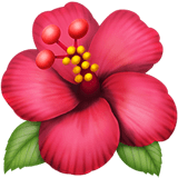 🌺 Hibiscus, Emoji by Apple