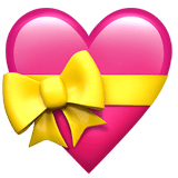💝 Heart with Ribbon, Emoji by Apple