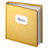 📔 Notebook with Decorative Cover, Emoji by Apple