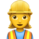 👷‍♀️ Woman Construction Worker, Emoji by Apple