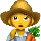 👩‍🌾 Woman Farmer, Emoji by Apple