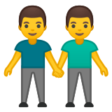 👬 Men Holding Hands, Emoji by Google