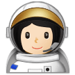 👩🏻‍🚀 Woman Astronaut: Light Skin Tone, Emoji by Samsung
