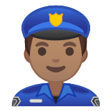 👮🏽‍♂️ Man Police Officer: Medium Skin Tone, Emoji by Google