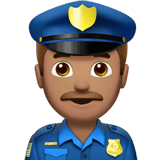 👮🏽‍♂️ Man Police Officer: Medium Skin Tone, Emoji by Apple