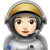 👩🏻‍🚀 Woman Astronaut: Light Skin Tone, Emoji by Apple