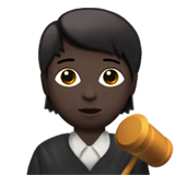 🧑🏿‍⚖️ Judge: Dark Skin Tone, Emoji by Apple