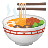 🍜 Steaming Bowl, Emoji by Google