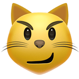 😼 Cat with Wry Smile, Emoji by Apple