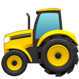 🚜 Tractor, Emoji by Apple