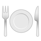 🍽️ Fork and Knife with Plate, Emoji by Google