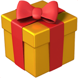 🎁 Wrapped Gift, Apple  Emoji