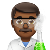 👨🏾‍🔬 Man Scientist: Medium-Dark Skin Tone, Emoji by Apple