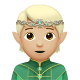 🧝🏼 Elf: Medium-Light Skin Tone, Apple  Emoji