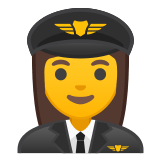 👩‍✈️ Woman Pilot, Emoji by Google