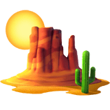 🏜️ Desert, Apple  Emoji