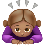 🙇🏽‍♀️ Woman Bowing: Medium Skin Tone, Emoji by Apple