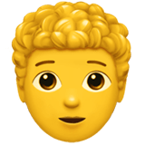 🧑‍🦱 Person: Curly Hair, Emoji by Apple