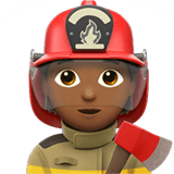 🧑🏾‍🚒 Firefighter: Medium-Dark Skin Tone, Emoji by Apple