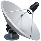 📡 Satellite Antenna, Apple  Emoji