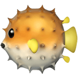 🐡 Blowfish, Apple  Emoji